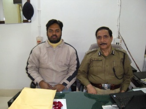 Rahul Kumar Singh with Md Saheb Akhetar, IG of Police Home Guard Bihar